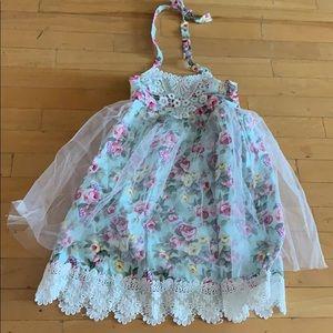 Floral Tutu dress size 5t